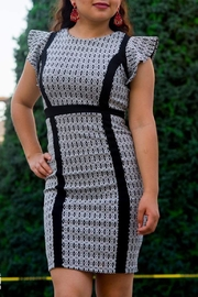 FRIKHA Diamonds Black&White Dress - Product Mini Image