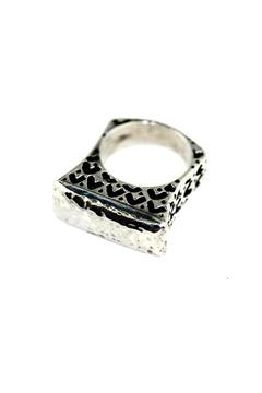 Shoptiques Product: Textured Bar Ring