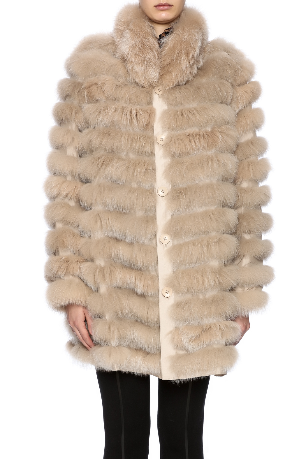 Diana Brosh The Reversible Fox Coat - Side Cropped Image