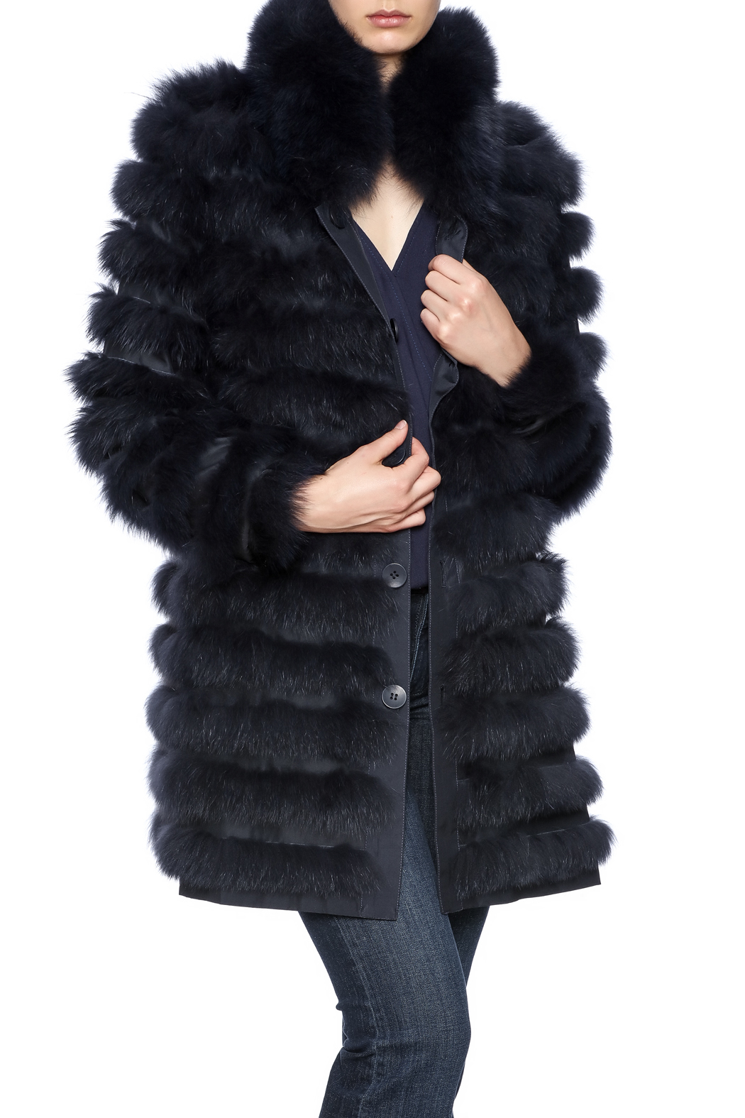 Diana Brosh The Reversible Fox Coat - Front Cropped Image