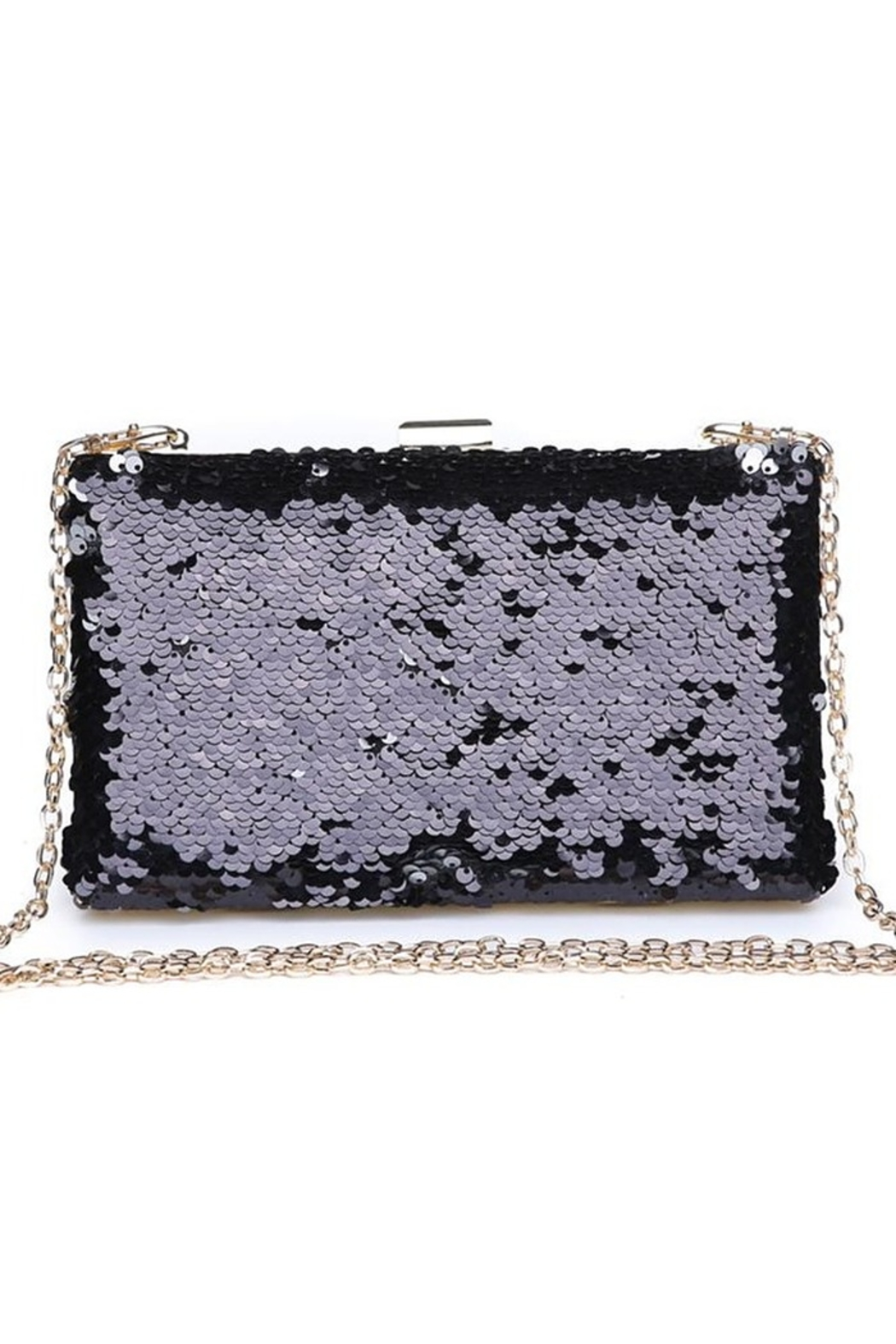 Urban Expressions Diana Sequin Clutch - Front Full Image