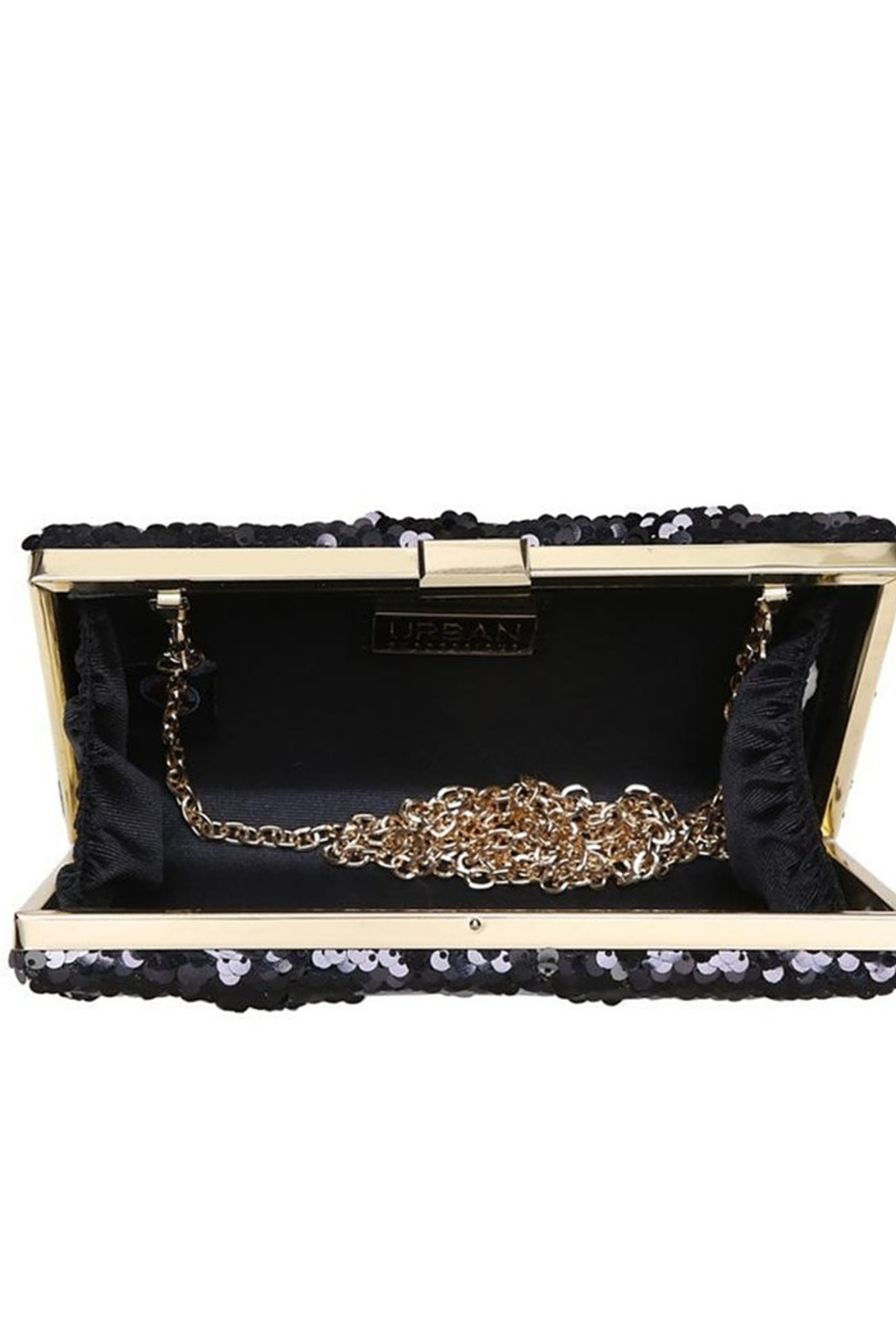 Urban Expressions Diana Sequin Clutch - Side Cropped Image