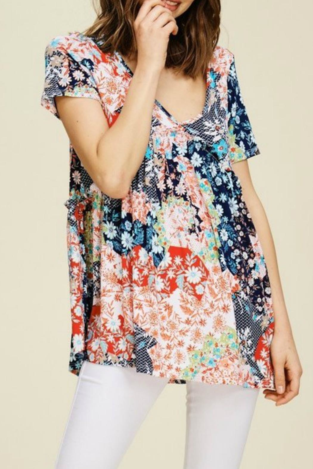 annabelle Diane Coral-Floral Top - Main Image