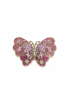 Shoptiques Product: Butterfly Pin Pink
