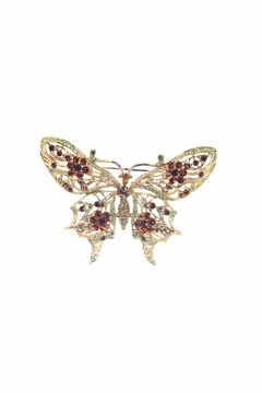 Shoptiques Product: Butterfly Pin Topaz
