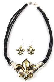 Diane's Accessories Fleur-De-Lis Necklace Earrings - Product Mini Image