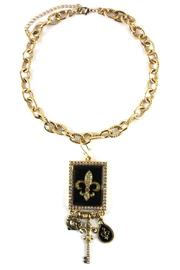 Diane's Accessories Fleur-De-Lis Shadow Box Necklace - Product Mini Image