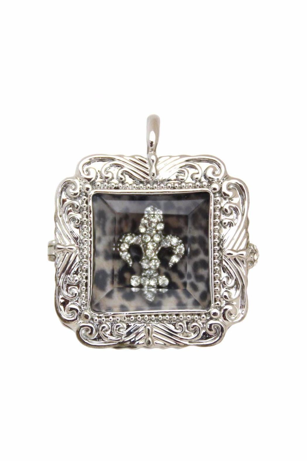 Diane 39 s accessories fleur de lis shadow box pendant from for Wedding dress shadow box for sale