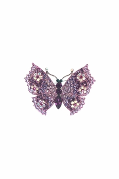 Shoptiques Product: Flower Butterfly Pin