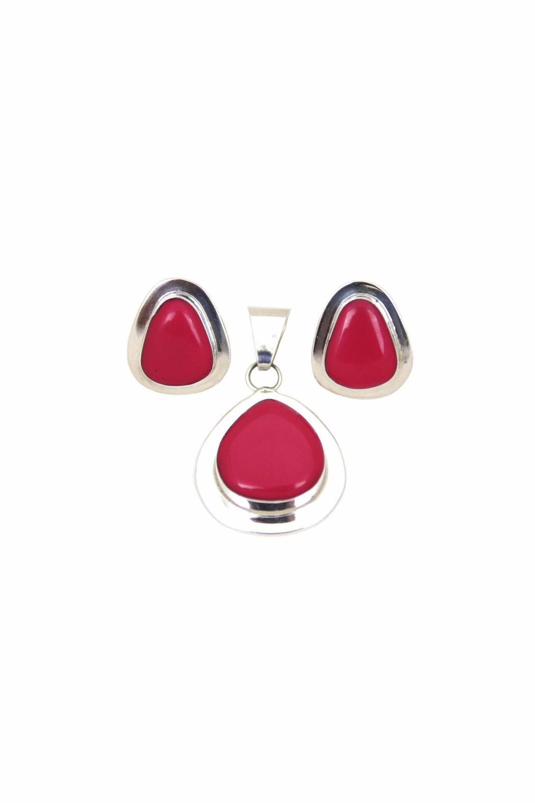 Diane's Accessories Fuchsia-Pendant and Earrings - Main Image