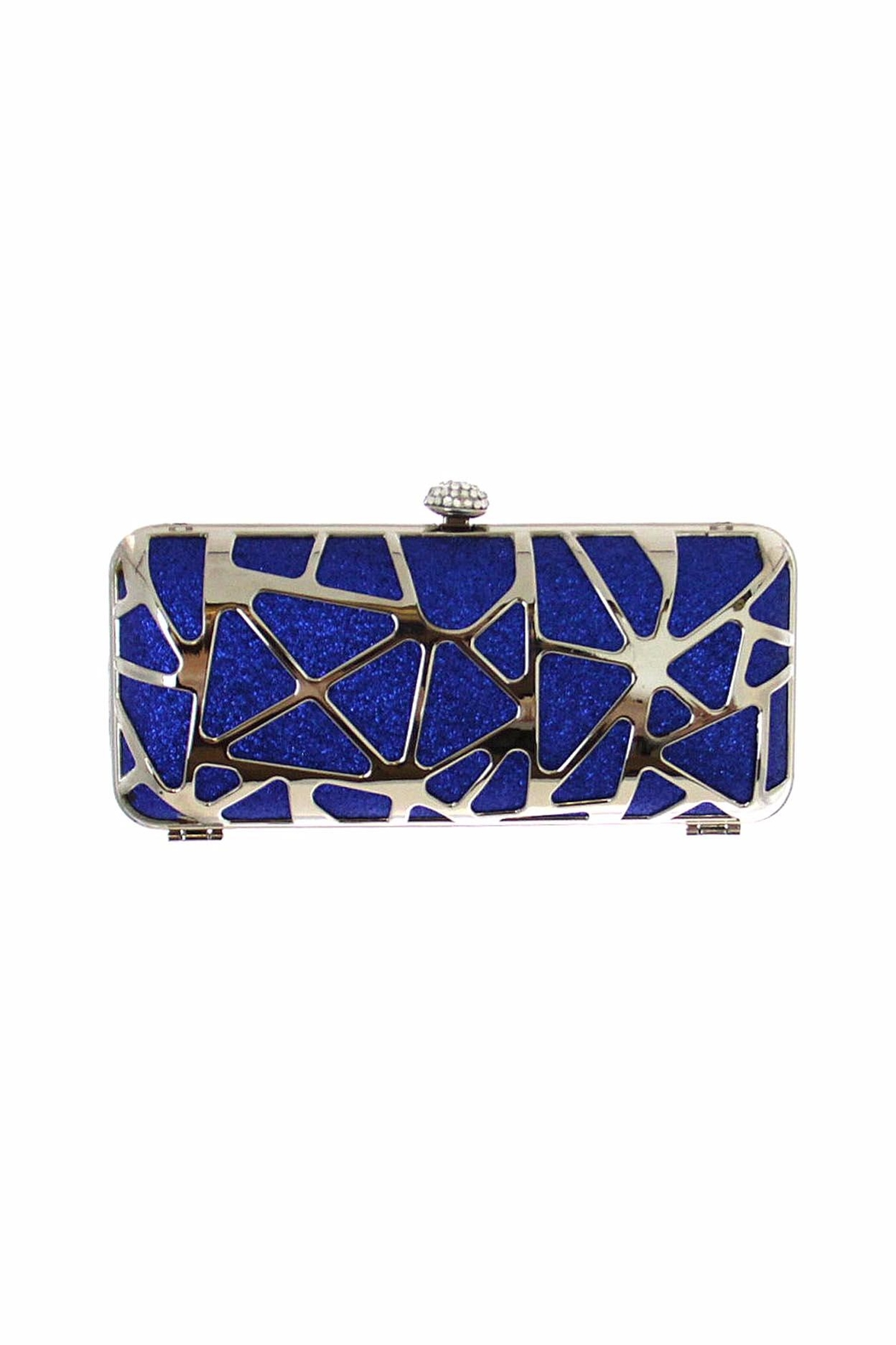 Diane's Accessories Glitter Clutch Blue - Front Cropped Image
