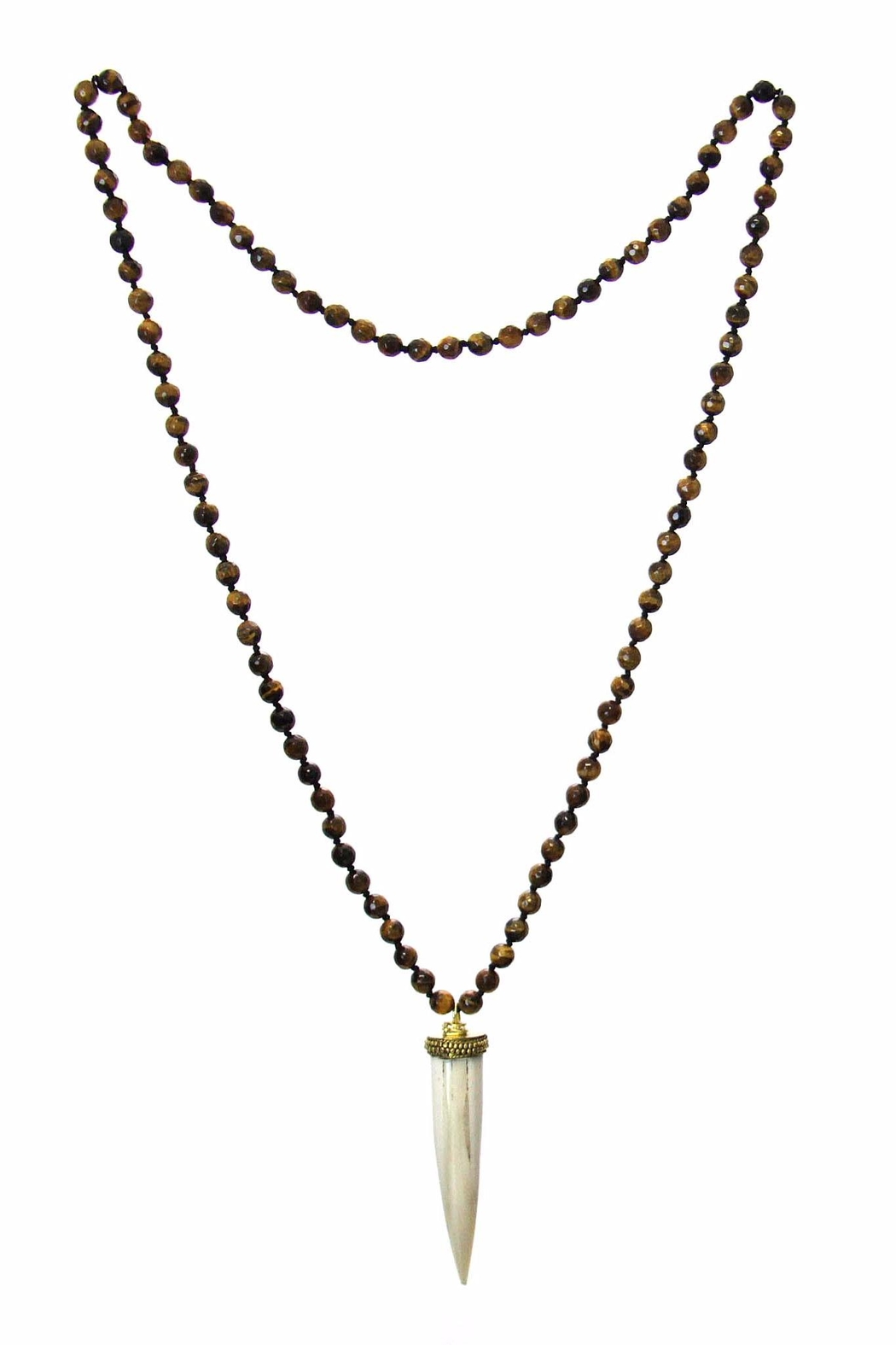 Diane's Accessories Horn Tiger's-Eye Necklace - Side Cropped Image