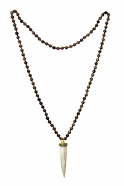 Diane's Accessories Horn Tiger's-Eye Necklace - Side cropped