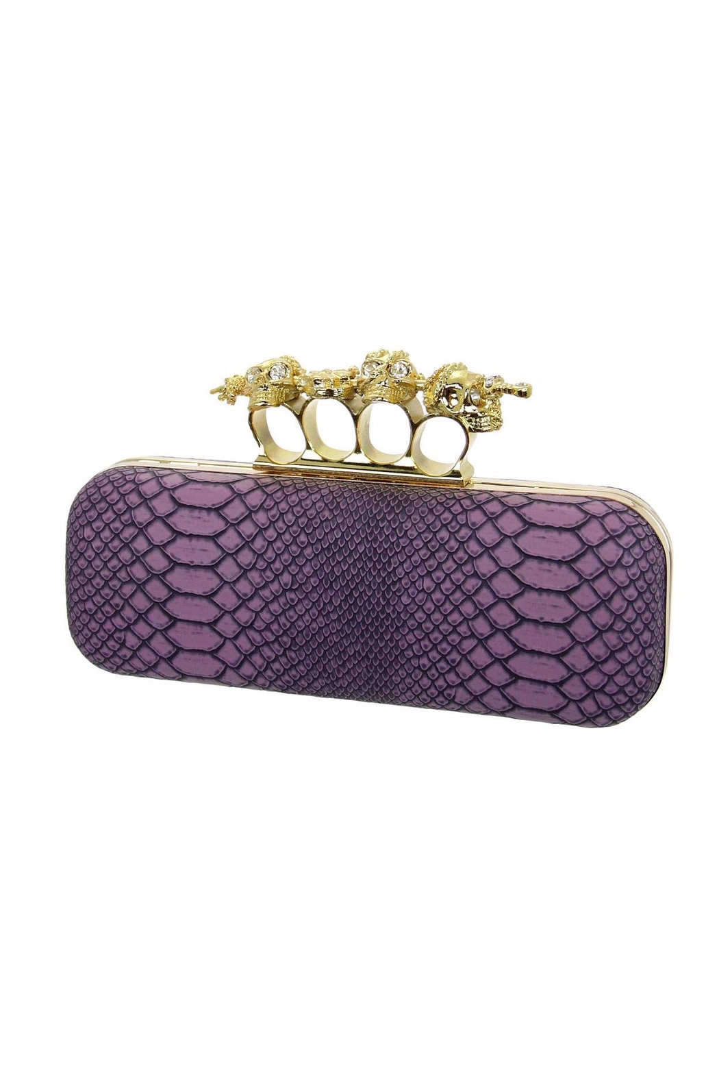 Diane's Accessories Lavender Snake Clutch - Main Image