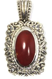 Diane's Accessories Red Agate Pendant - Product Mini Image