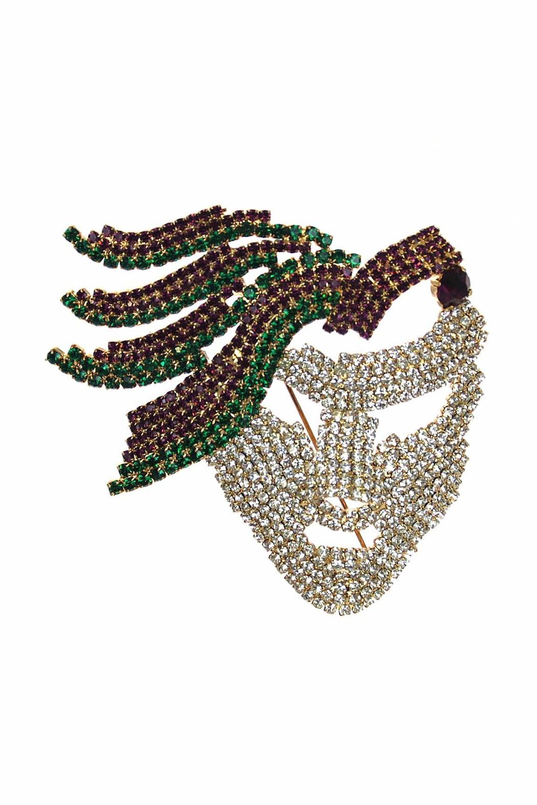 Diane's Accessories Rhinestone Mask Pin - Front Cropped Image