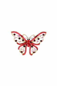 Shoptiques Product: Sequin Butterfly Pin