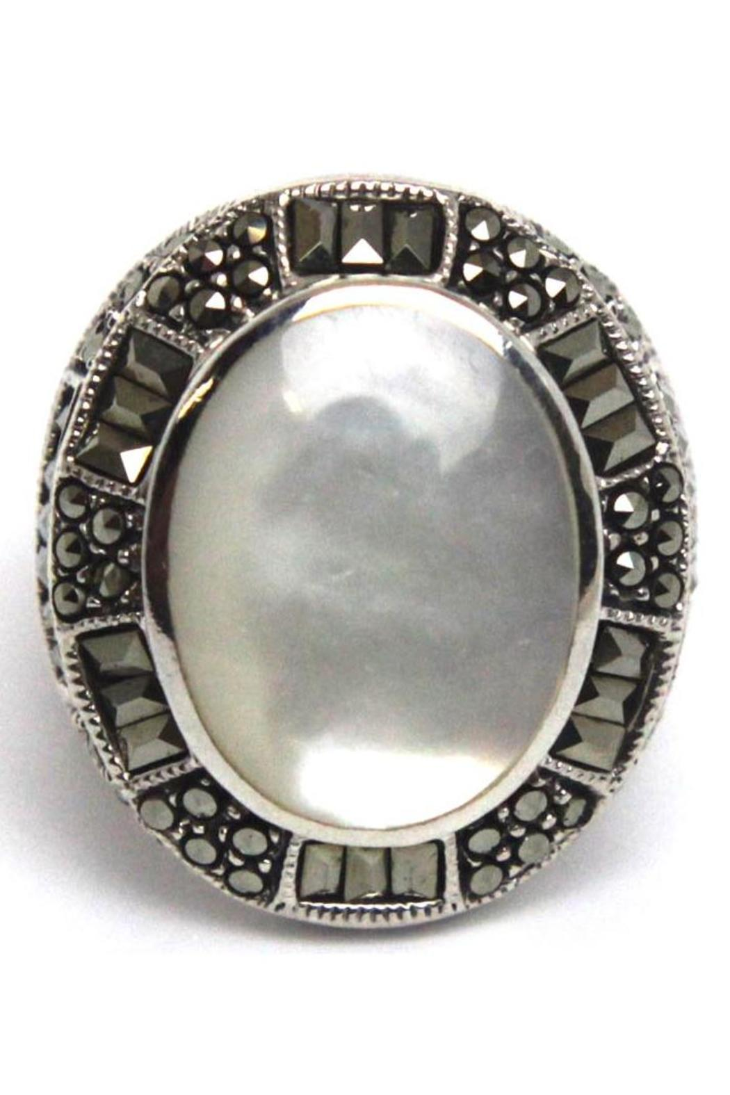 Diane's Accessories Sterling Mother-Of-Pearl Ring - Main Image