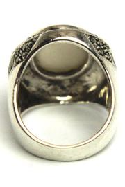 Diane's Accessories Sterling Mother-Of-Pearl Ring - Front full body