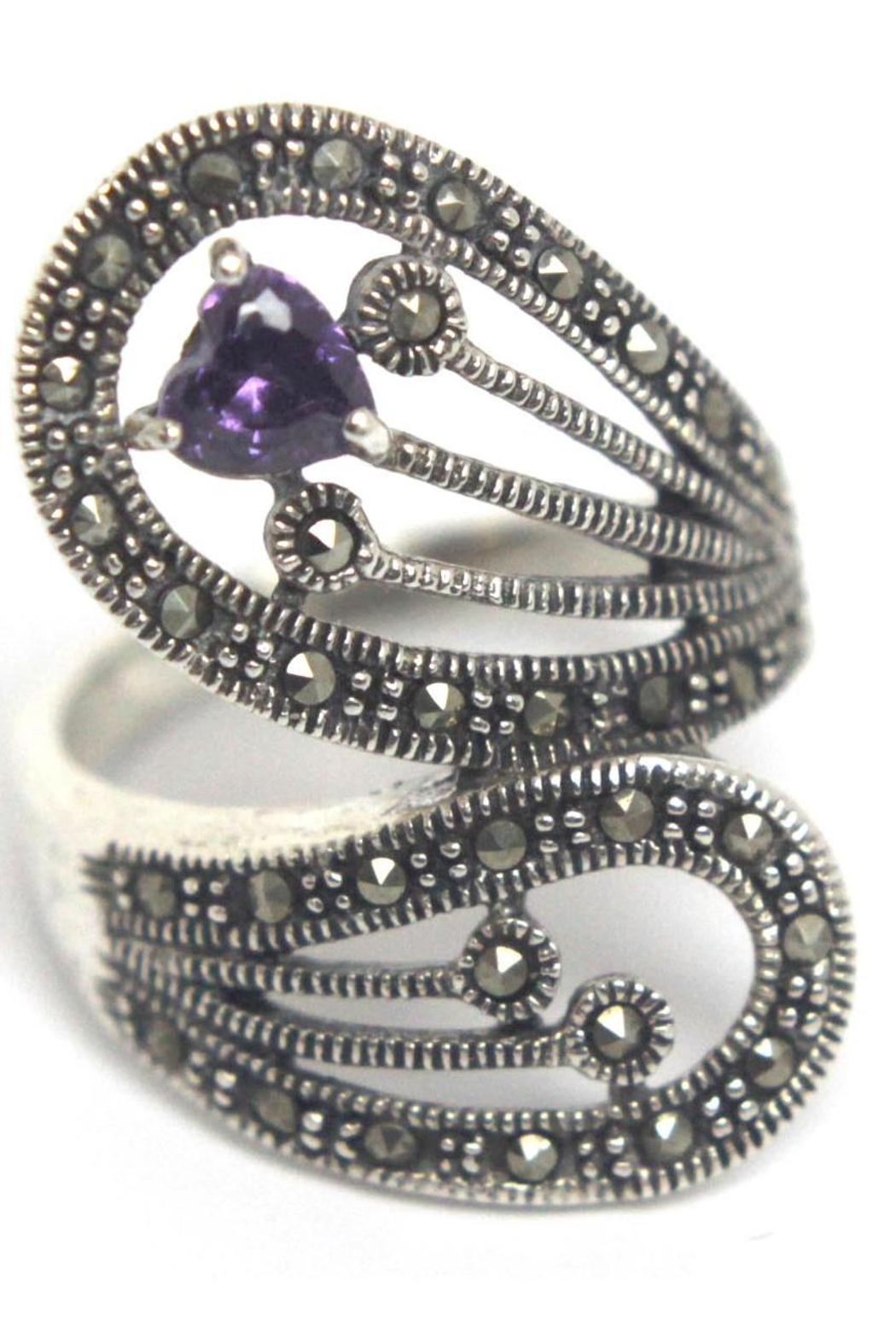 Diane's Accessories Sterling Silver Amethyst Ring - Main Image