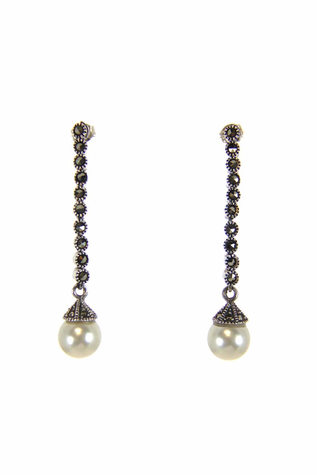 Diane's Accessories Marcasite Pearl Earrings - Main Image