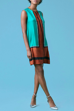 Diane von Furstenberg Sleeveless Silk Bow Dress - Product List Image