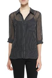 Diane von Furstenberg Striped Silk Blouse - Product Mini Image