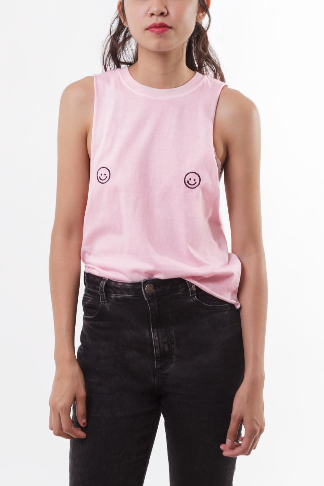 Die Katze Happy Face Tee - Front Cropped Image