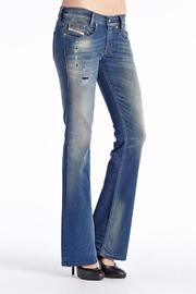 Diesel Jeans Bootcut Distressed Jean - Product Mini Image