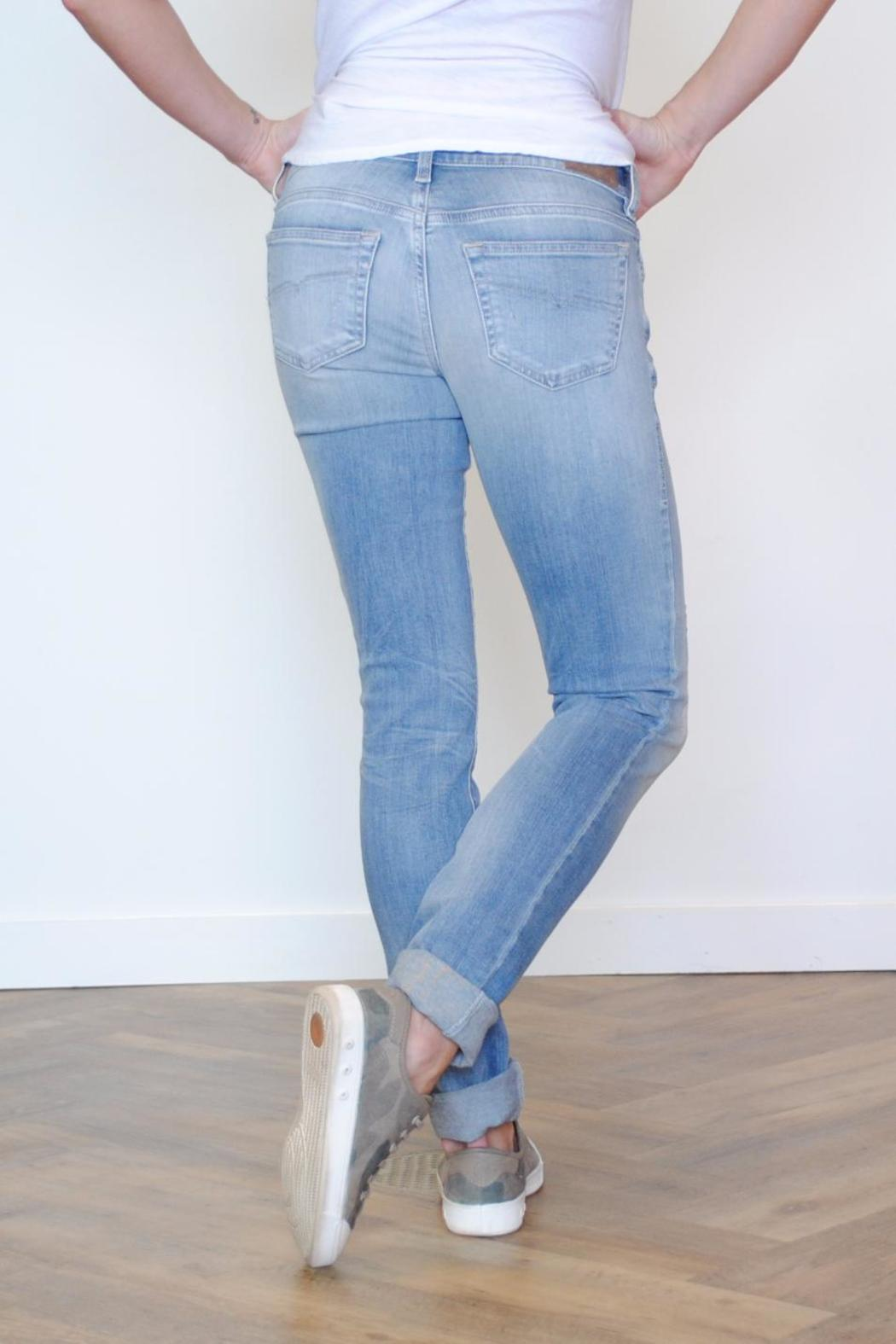 Diesel Jeans Distressed Blue Jean - Front Full Image