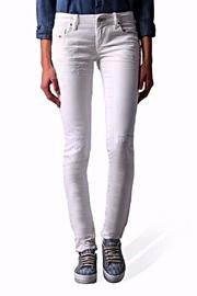 Diesel Jeans White Skinny Jean - Product Mini Image