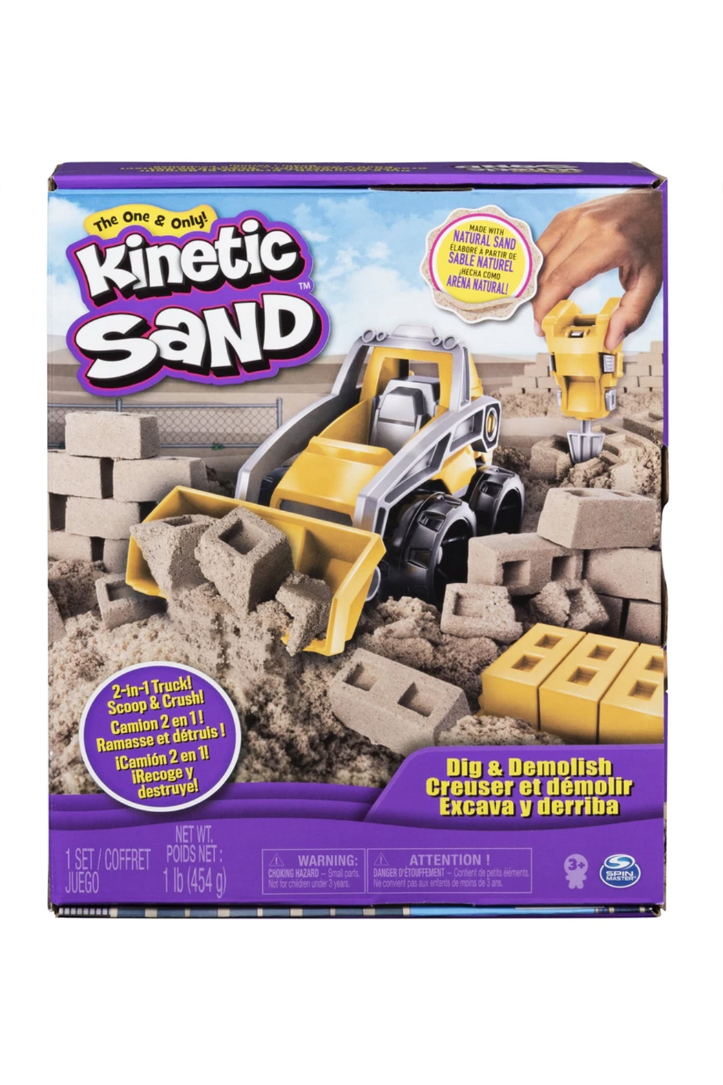 Kinetic Sand Dig & Demolish Truck Playset - Front Cropped Image