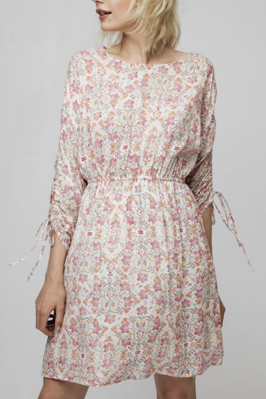Compania Fantastica Digital Floral Dress - Side Cropped Image