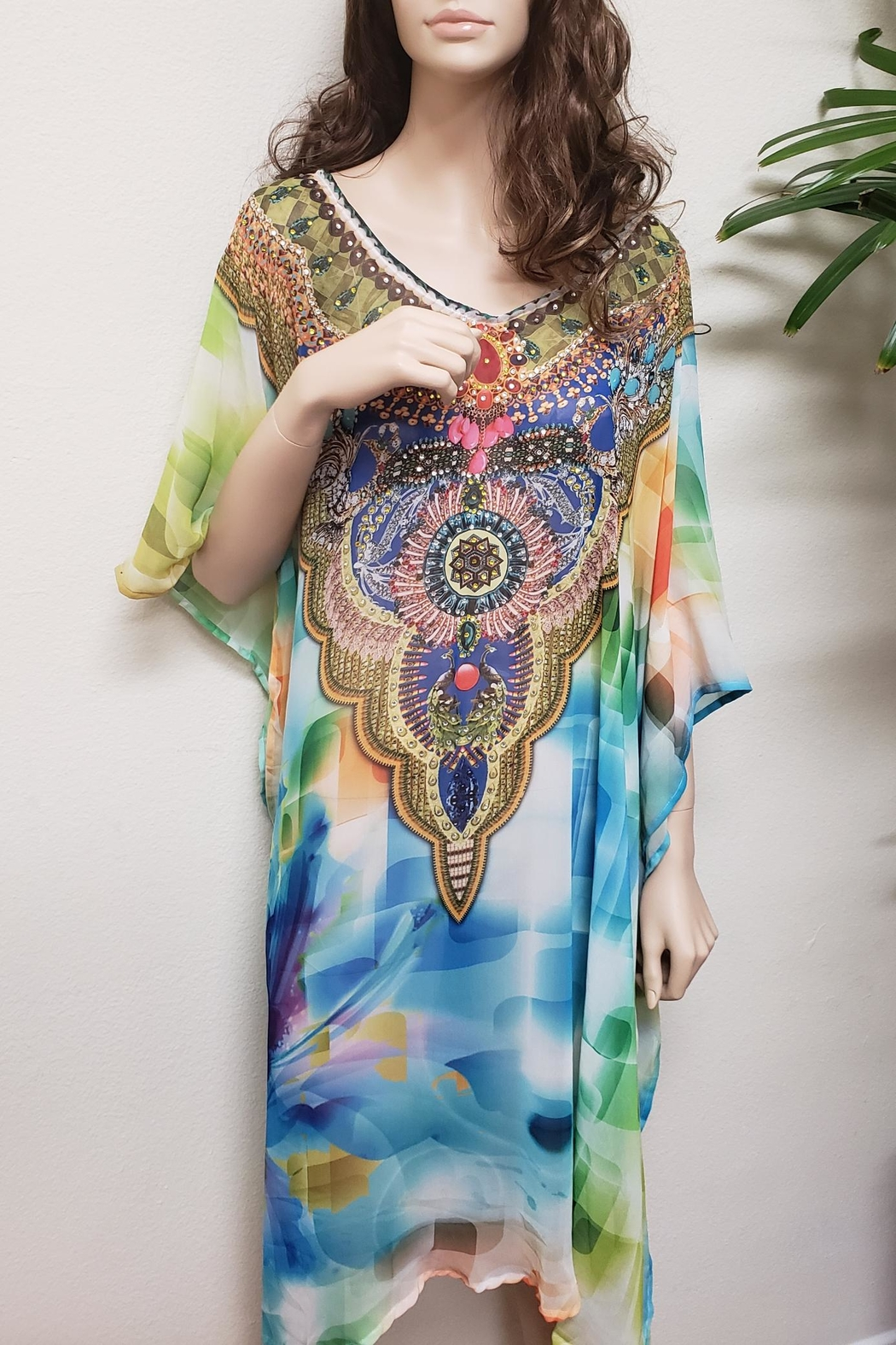 Kareena's Digital Print Caftan - Main Image