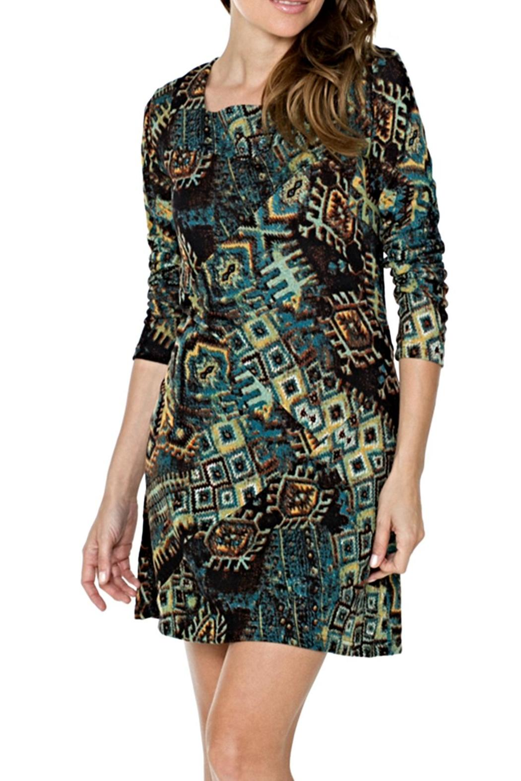 Adore Apparel Digital Print Tunic Dress - Front Cropped Image
