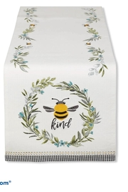 DII Design Imports Bee-Kind Table Runner - Front cropped