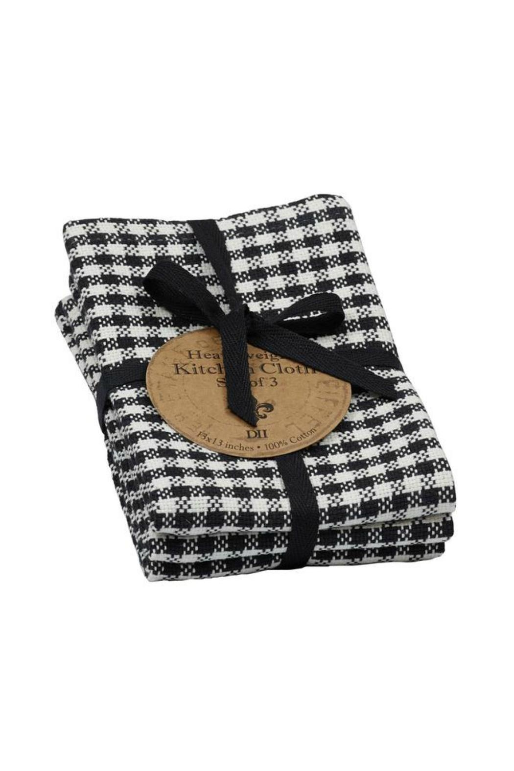 DII Design Imports Black Check Dishcloth Set - Main Image