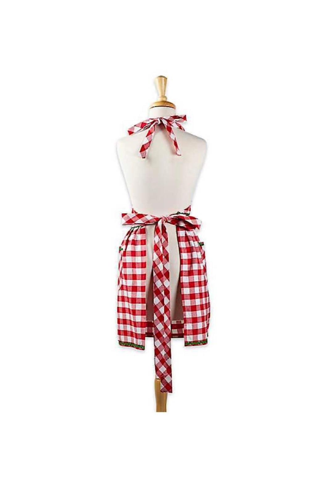 DII Design Imports Gingerbread Checked Apron - Front Full Image