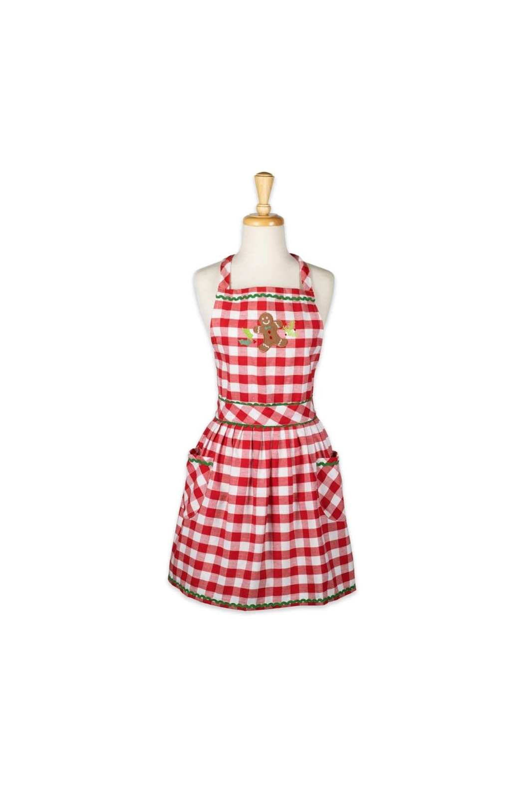 DII Design Imports Gingerbread Checked Apron - Main Image