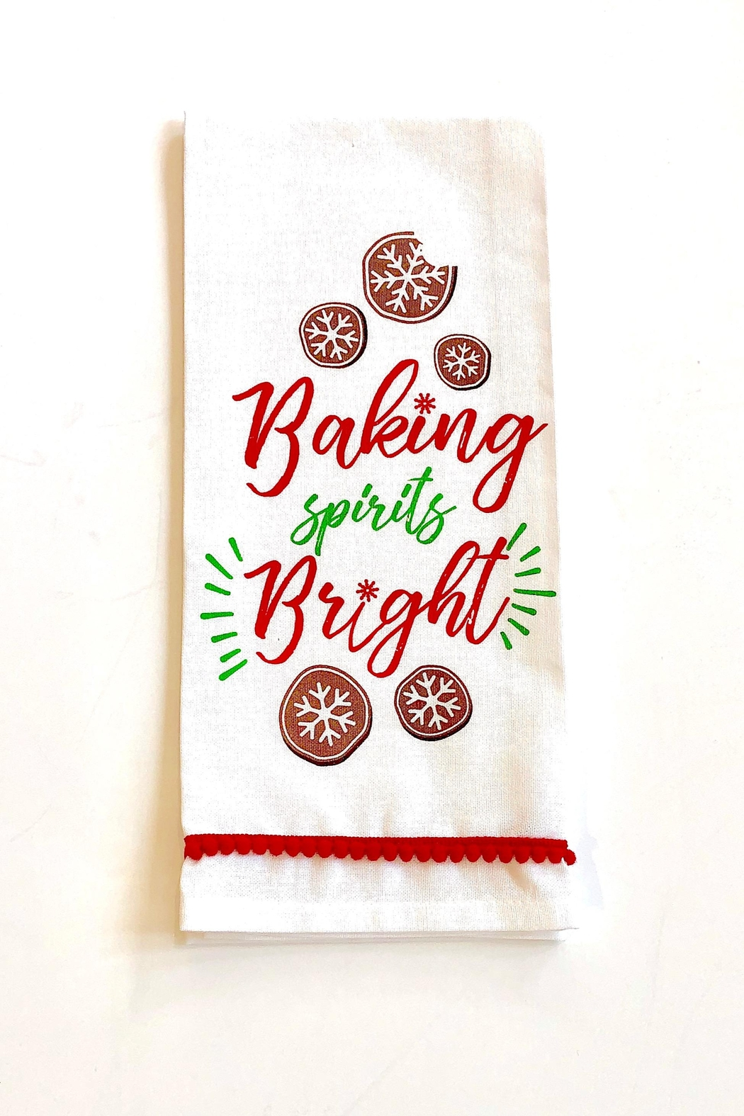 DII Design Imports Holiday Kitchen Towel - Front Cropped Image