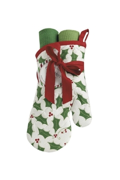 DII Design Imports Holly Oven-Mitt-Towel Gift-Set - Product List Image