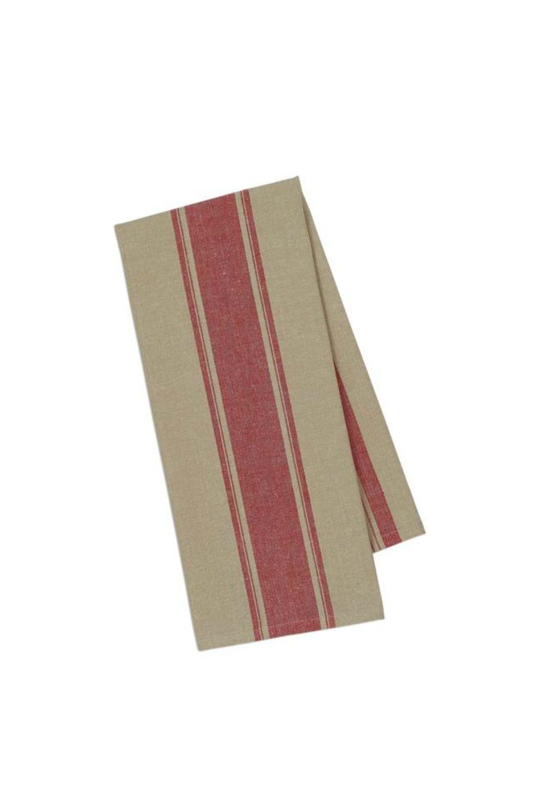 DII Design Imports Red Stripe Kitchen Towel - Main Image