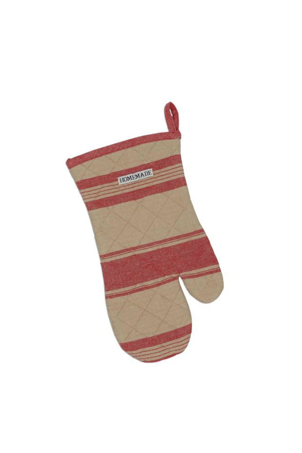 DII Design Imports Red French Stripe Mitt - Main Image