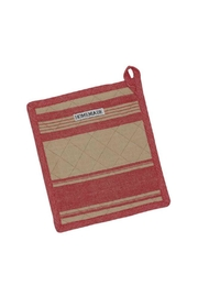 DII Design Imports Red French Stripe Potholder - Front cropped