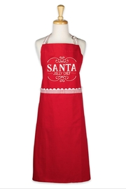 DII Design Imports Santa Chef Apron - Front cropped