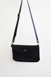 Dime & Regal Black Leather Purse - Front full body