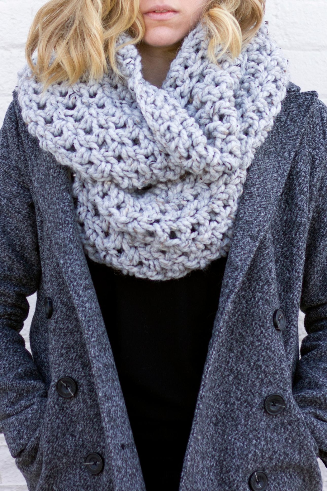 Dime & Regal Granite Infinity Scarf - Front Cropped Image