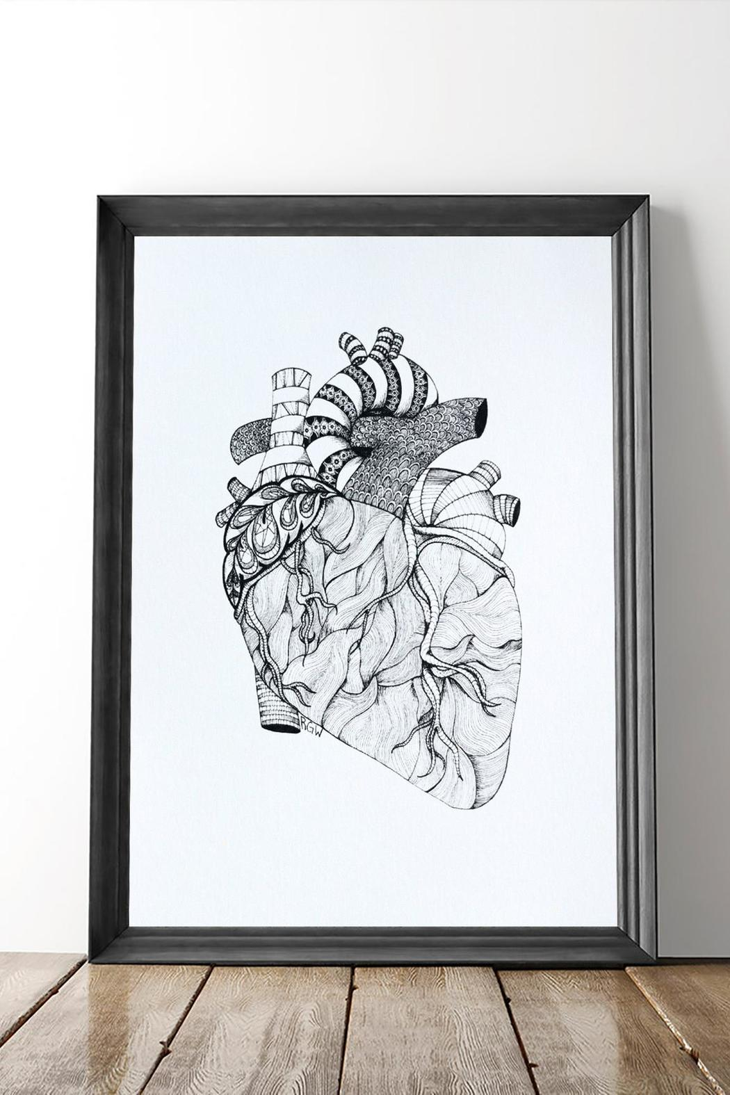 Dime & Regal Heart Anatomy Print - Main Image