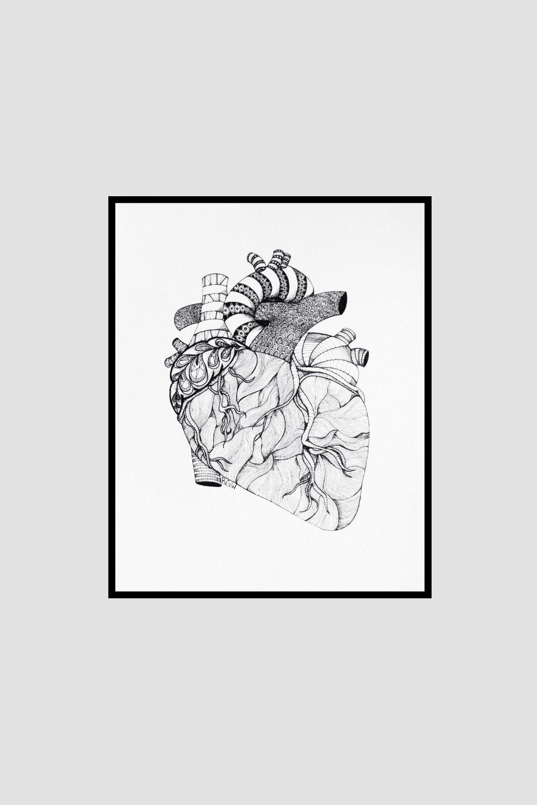 Dime & Regal Heart Anatomy Print - Side Cropped Image