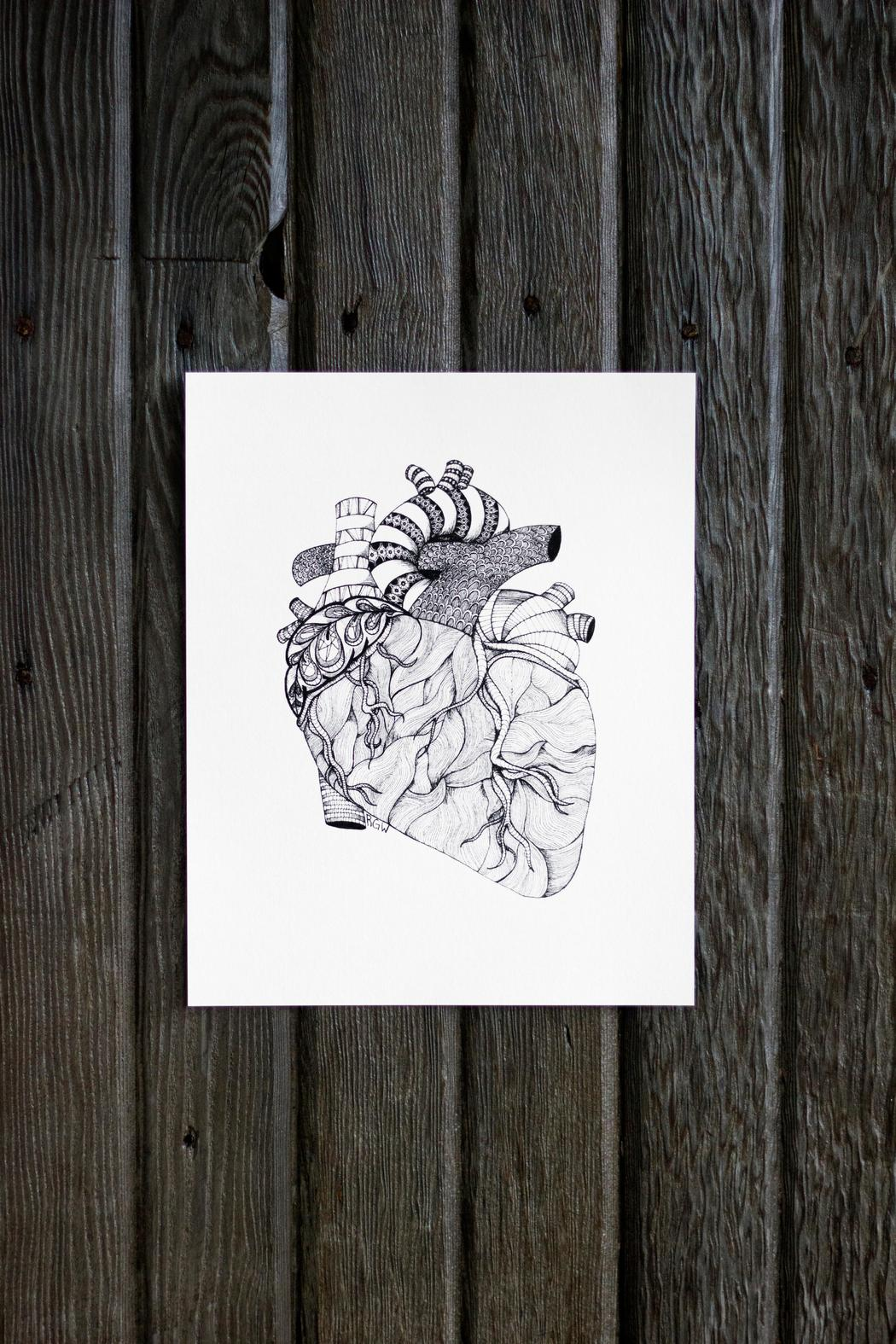 Dime & Regal Heart Anatomy Print - Front Full Image